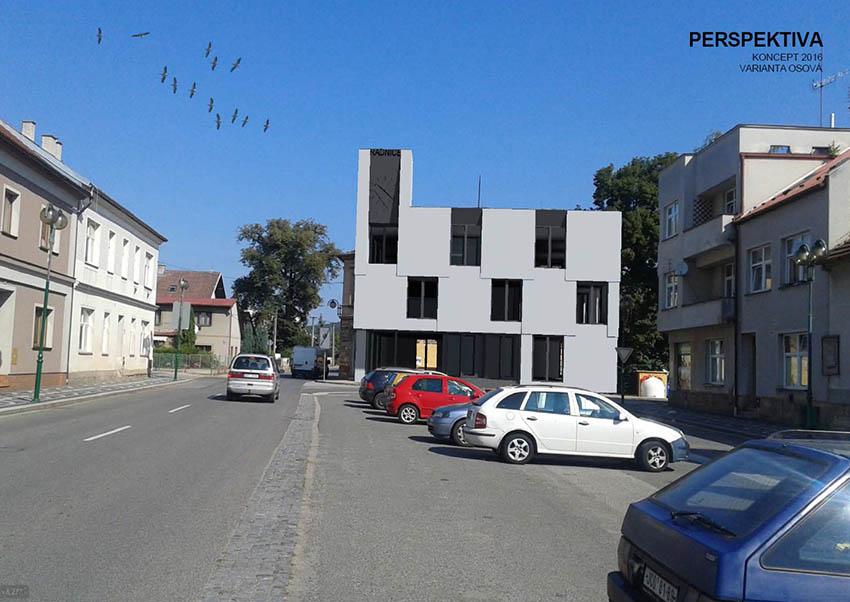 Studie budovy městského úřadu